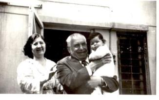 Little Meena with her Grandparents