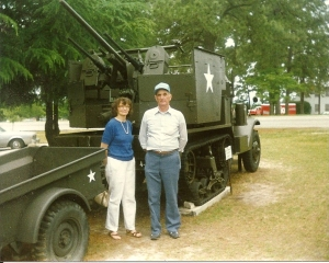 Marian and her husband at Fort Jackson, South Carolina, for their daughter's Army graduation.