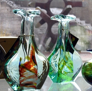 Vases in Irish Shop for Poetic Bloomings