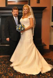 One proud poppa; one gorgeous bride