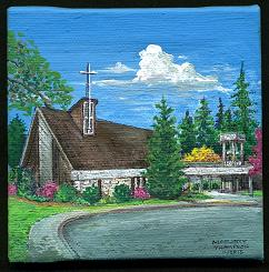 Sunrise Church, Custer, WA (acrylic)